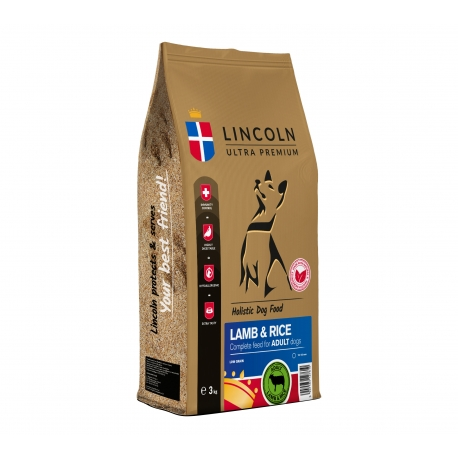 LINCOLN ADULT LAMB & RICE 12 KG