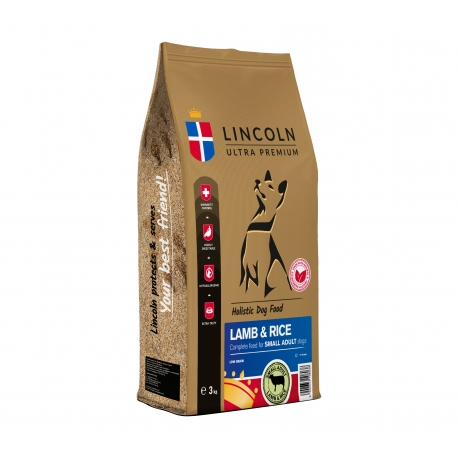 LINCOLN SMALL ADULT LAMB & RICE 3 KG