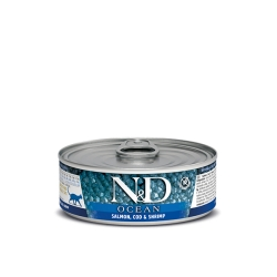 FARMINA N&D OCEAN łosoś 80 g
