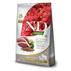 Farmina N&D QUINOA kaczka Neutered med/max 12 kg